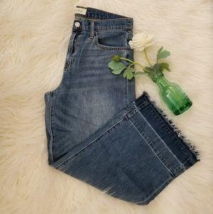 Gap Wide Leg High Rise Released Hem Jeans